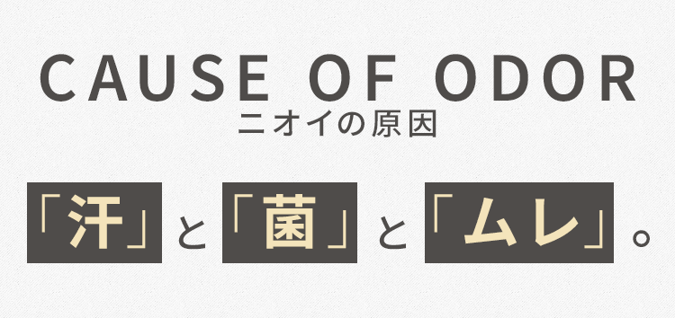 CAUSE OF ODOR ニオイの原因